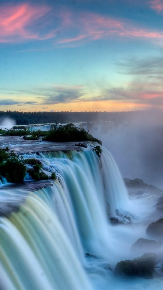 壁纸 风景 旅游 瀑布 山水 桌面 640_1136 竖版 竖屏 手机