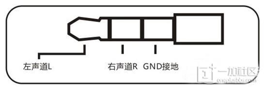普通耳机三段式插针结构