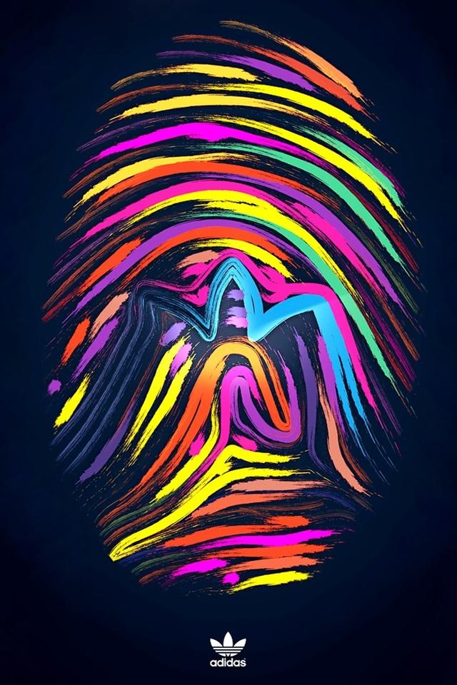 阿迪达斯创意LOGO手机壁纸