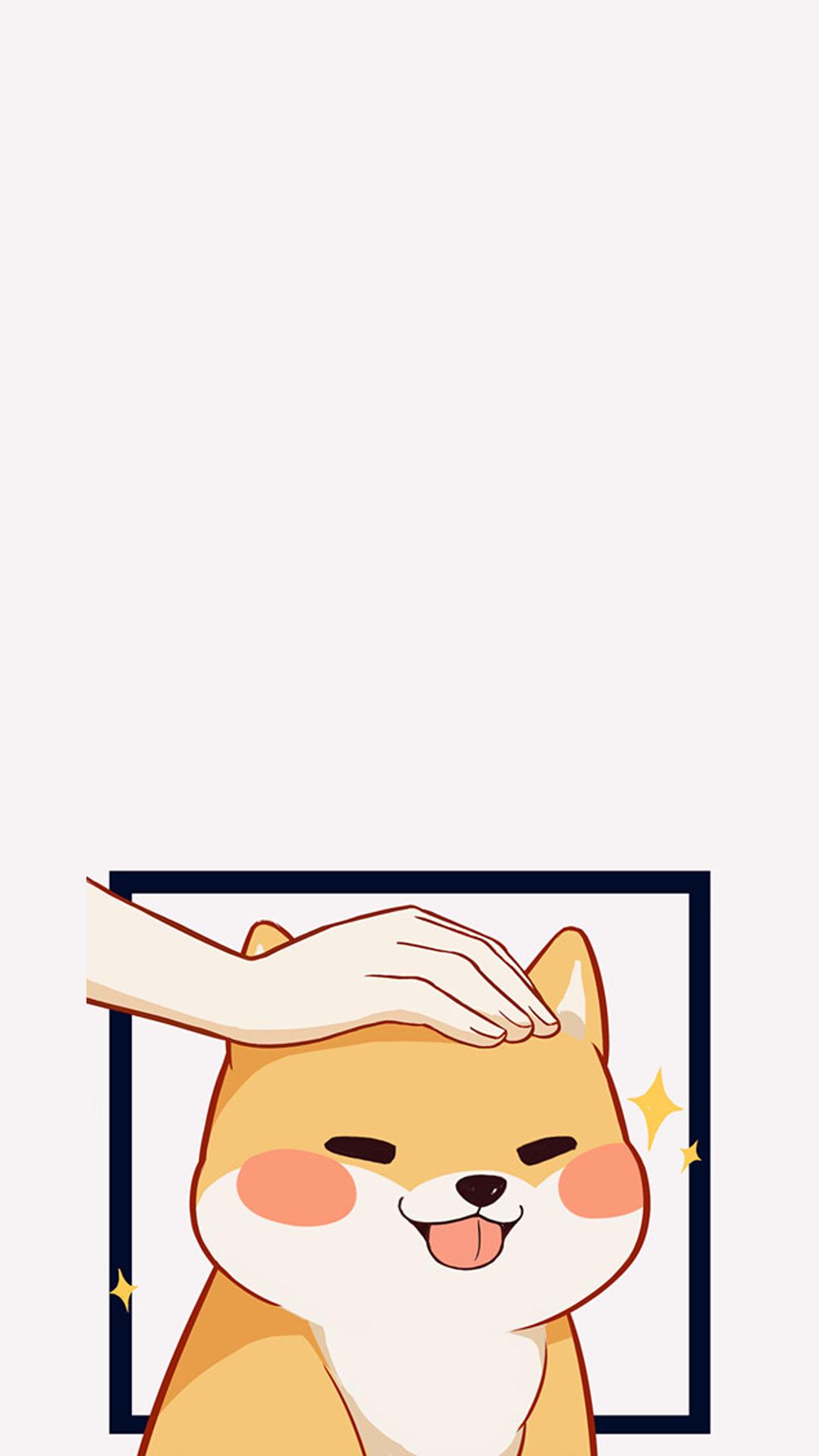 可爱卡通柴犬手绘壁纸 【6p】