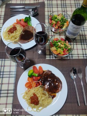 晚餐,牛排+拉菲