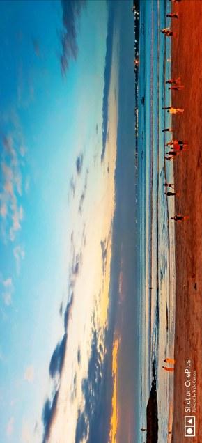 巴厘岛傍晚海滩