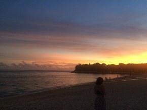 巴厘岛的黄昏日落