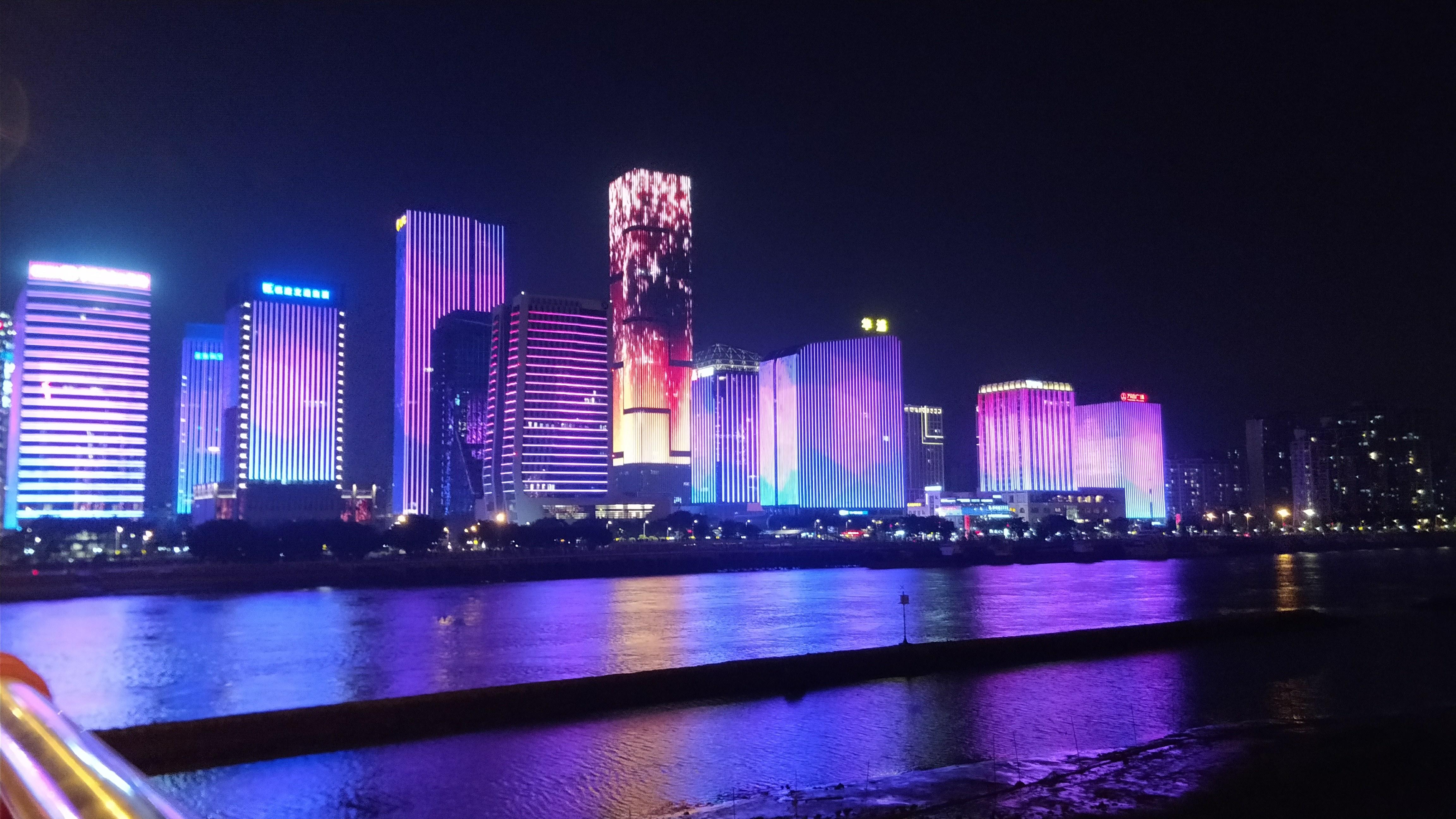 福州江滨公园夜景。-中关村在线摄影论坛