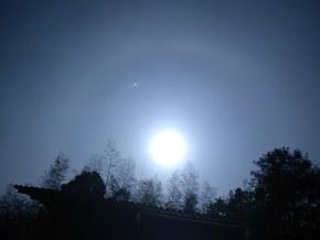 超级月(旁边金星)+以前拍的星空。