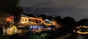 运河边的夜景