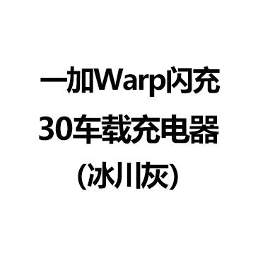 一加Warp闪充30车载充电器(冰川灰)