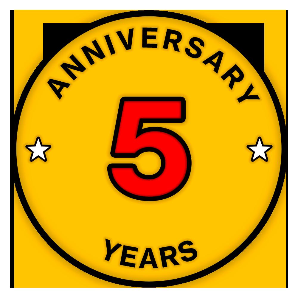 必威体育官网app安卓下载五周年纪念勋章